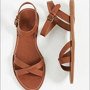 Madewell The Bordwalk Crisscross Sandals